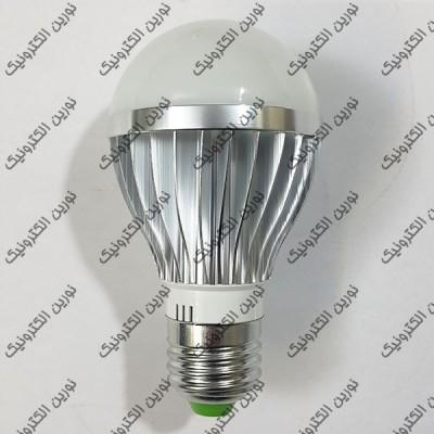 قاب لامپ ال ای دی حبابی آلومینیومی 5 وات نقره ای
